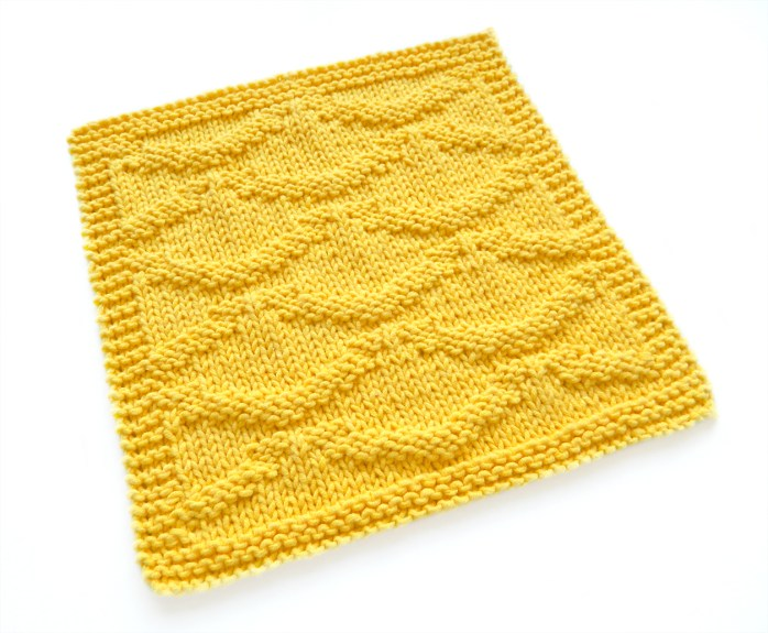 RIPPLES stitch knitting pattern 52 SQUARE PICKUP knitted blanket RIPPLES knitting pattern OhLaLana dishcloth free pattern