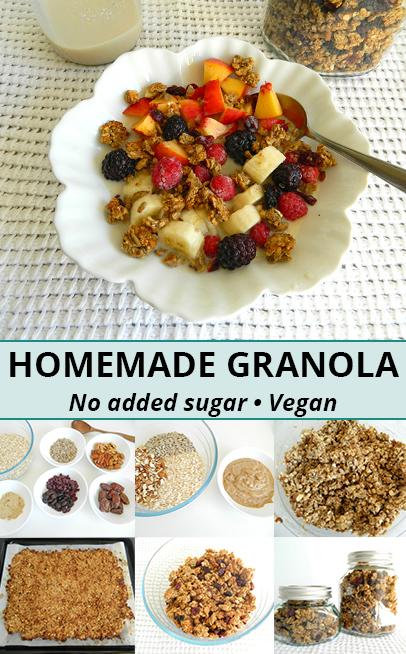 homemade granola recipe vegan granola recipe diy granola no added sugar