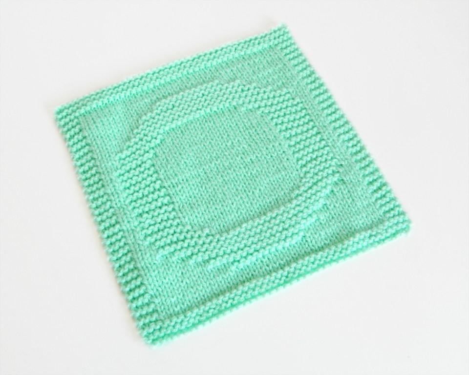 O dishcloth pattern alphabet dishcloth knitting pattern ohlalana O letter knitting pattern