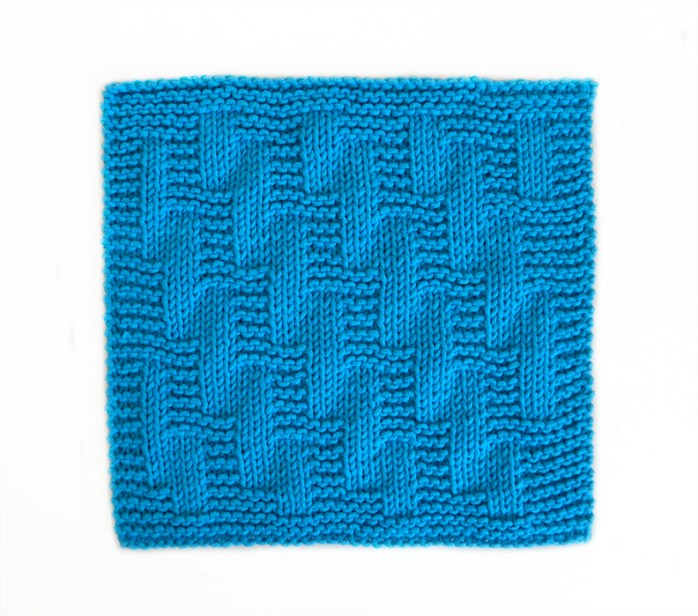 STAIRWAY stitch knitting pattern 52 SQUARE PICKUP knitted blanket STAIRWAY knitting pattern OhLaLana dishcloth free pattern