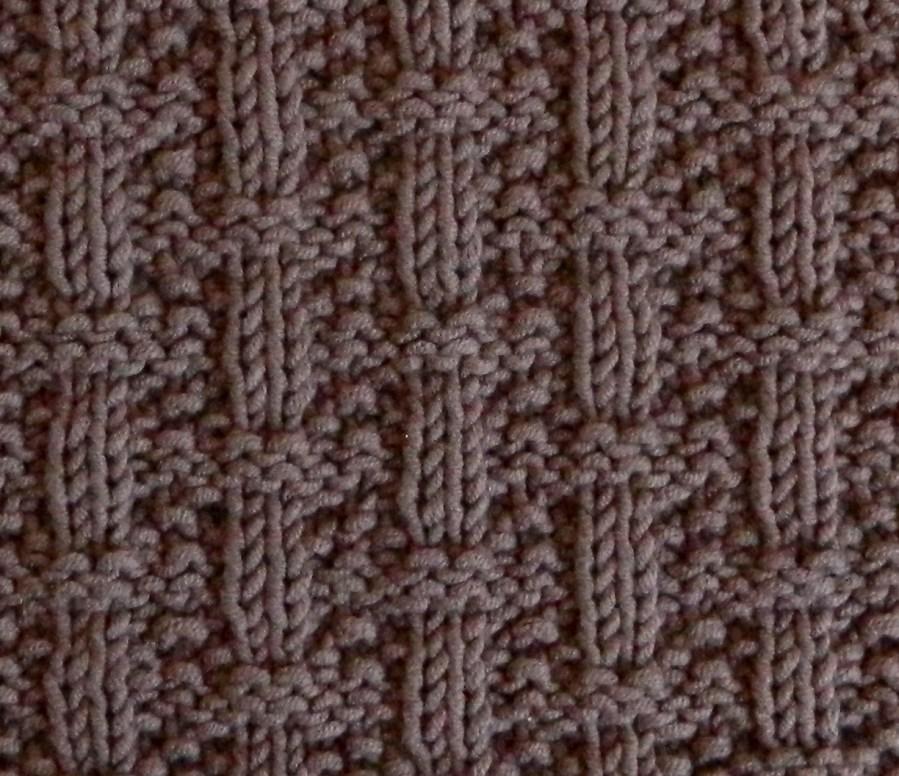 BASKETWEAVE stitch knitting pattern 52 SQUARE PICKUP knitted blanket BASKETWEAVE knitting pattern OhLaLana dishcloth free pattern