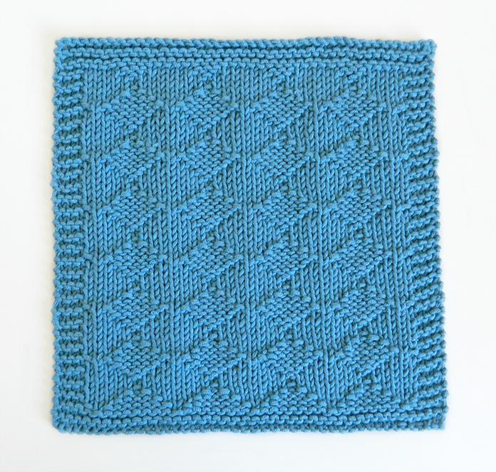 HARLEQUIN stitch knitting pattern 52 SQUARE PICKUP knitted blanket HARLEQUIN knitting pattern OhLaLana dishcloth free pattern