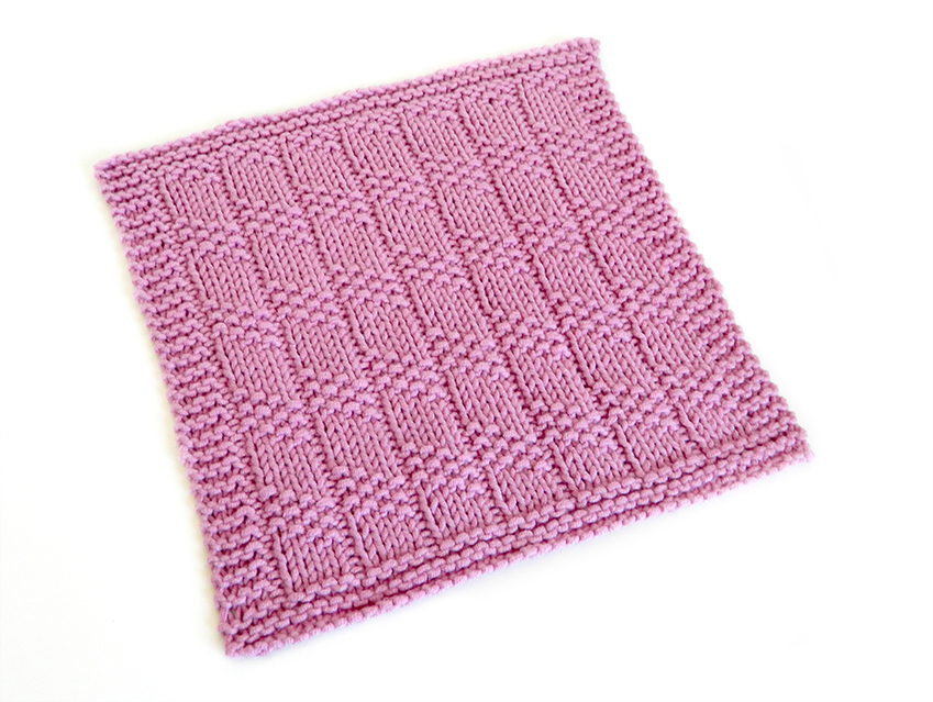 SPIRAL COLUMNS stitch knitting pattern 52 SQUARE PICKUP knitted blanket SPIRAL COLUMNS knitting pattern OhLaLana dishcloth free pattern