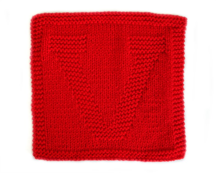V dishcloth pattern alphabet dishcloth knitting pattern ohlalana V letter knitting pattern