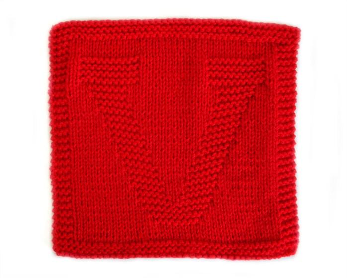 V dishcloth pattern alphabet dishcloth knitting pattern ohlalana V letter knitting pattern