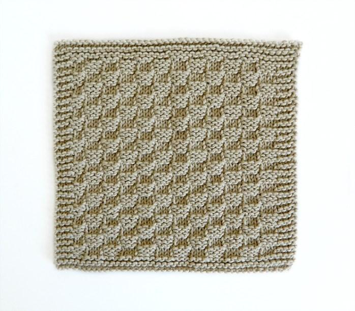 CHECKERBOARD stitch knitting pattern 52 SQUARE PICKUP knitted blanket CHECKERBOARD knitting pattern OhLaLana dishcloth free pattern