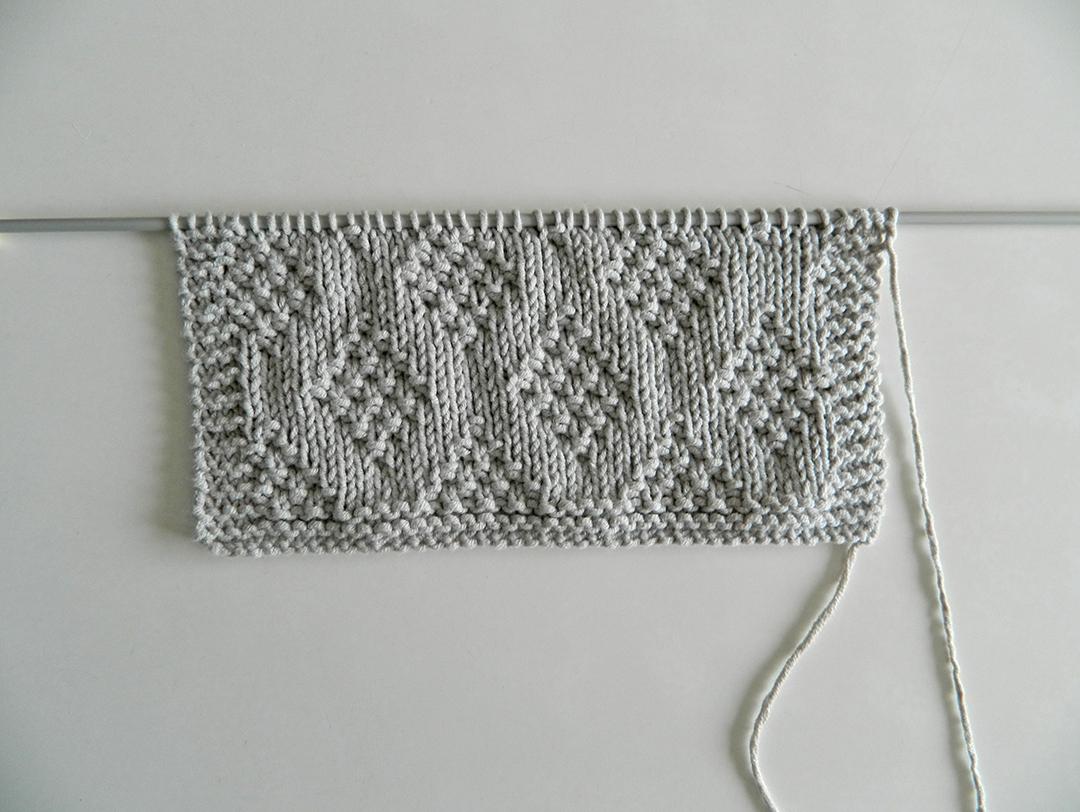 DIAMONDS stitch knitting pattern 52 SQUARE PICKUP knitted blanket DIAMONDS knitting pattern OhLaLana dishcloth free pattern