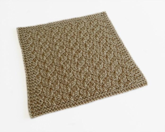 LITTLE HERRINGBONE stitch knitting pattern 52 SQUARE PICKUP knitted blanket LITTLE HERRINGBONE knitting pattern OhLaLana dishcloth free pattern