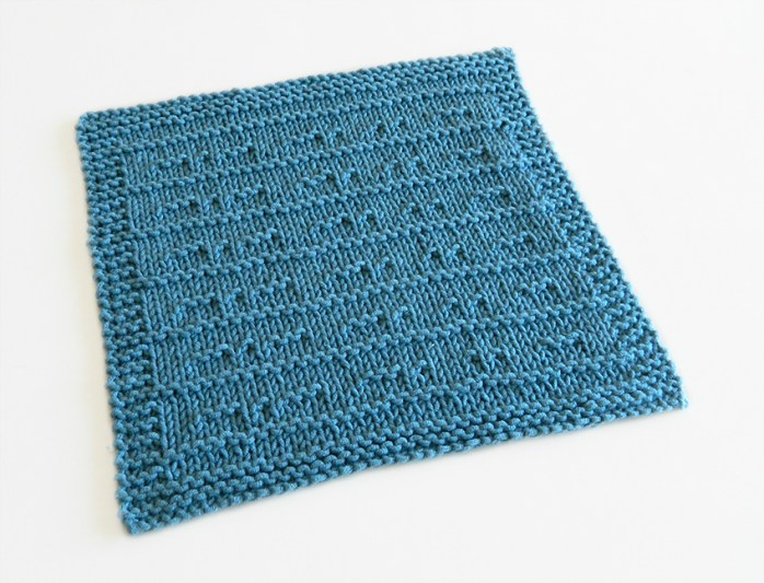 MORSE stitch knitting pattern 52 SQUARE PICKUP knitted blanket MORSE knitting pattern OhLaLana dishcloth free pattern