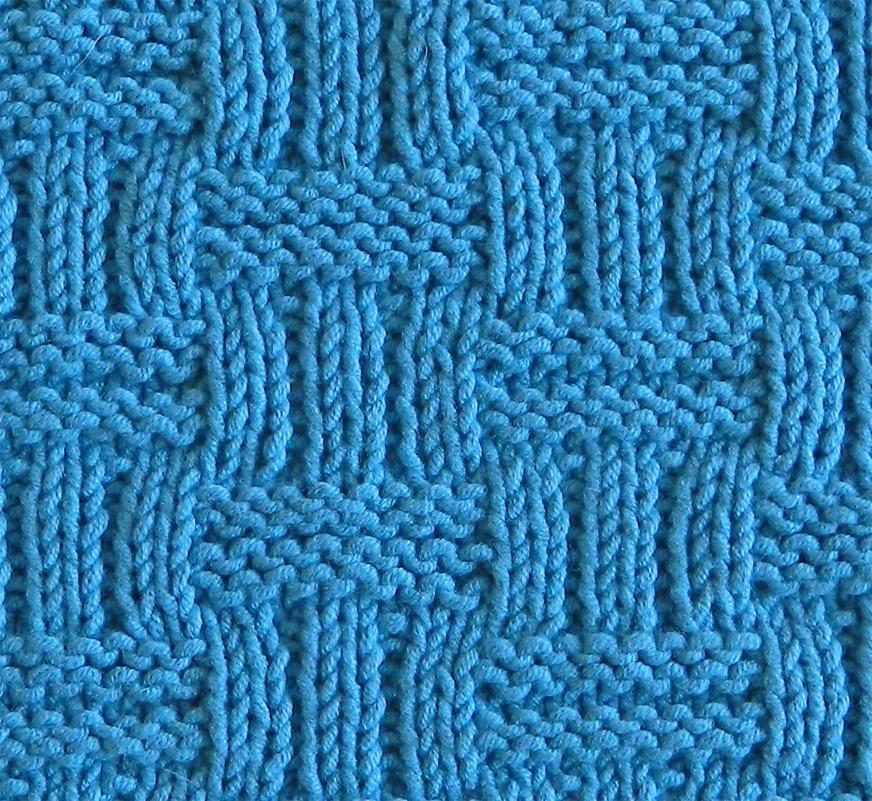 WICKER stitch knitting pattern 52 SQUARE PICKUP knitted blanket WICKER knitting pattern OhLaLana dishcloth free pattern