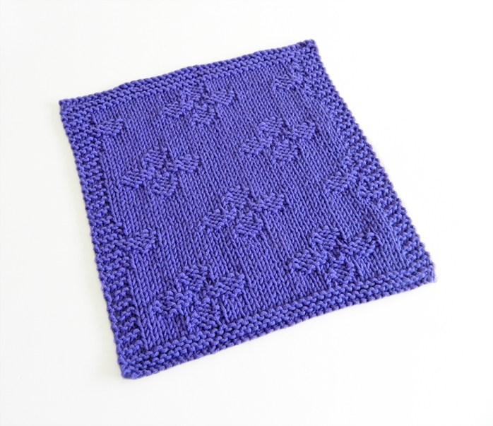 FLOWERS stitch knitting pattern 52 SQUARE PICKUP knitted blanket FLOWERS knitting pattern OhLaLana dishcloth free pattern