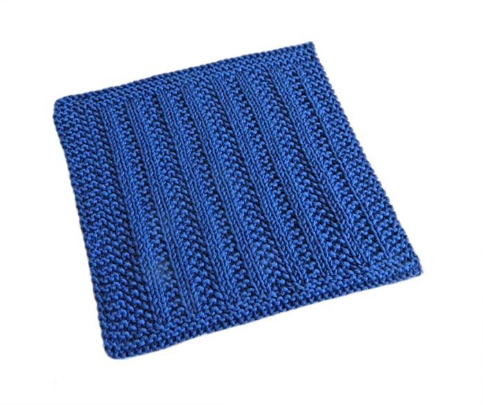 VERTICAL stitch knitting pattern 52 SQUARE PICKUP knitted blanket VERTICAL knitting pattern OhLaLana dishcloth free pattern