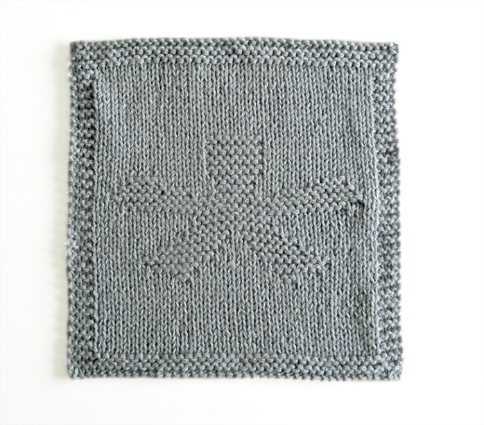ASTERISK dishcloth pattern ASTERISK knitting pattern ohlalana ASTERISK block