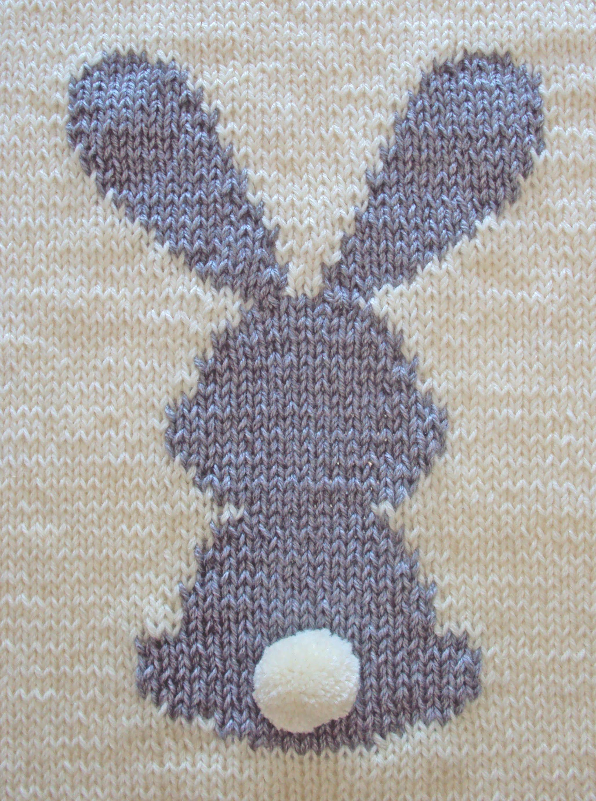 BUNNY BABY BLANKET knitting pattern,RABBIT BLANKET - Oh La ...