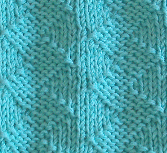 STOCKINETTE ZIG ZAG dishcloth, ZIG ZAG stitch knitting pattern 52 SQUARE PICKUP knitted blanket STOCKINETTE ZIG ZAG knitting pattern OhLaLana dishcloth free pattern