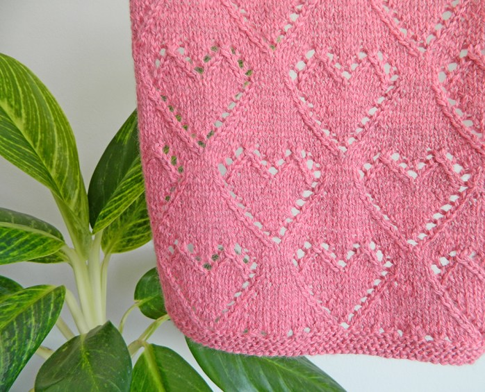 LACE HEARTS dishcloth, VALENTINES LACE knitting pattern, VALENTINES knitting pattern, HEARTS knitting pattern, OhLaLana LACE HEARTS dishcloth free pattern
