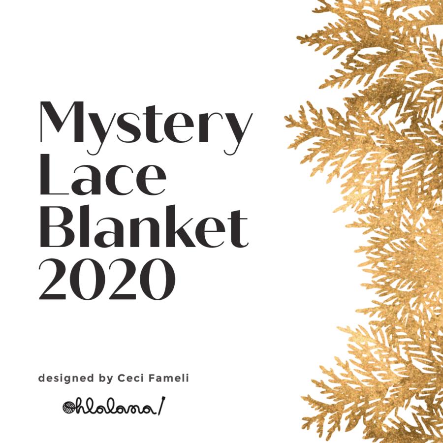 Mystery Lace Blanket KAL 2020, ohlalana, ohlalana pattern, lace blanket KAL, free knitting pattern