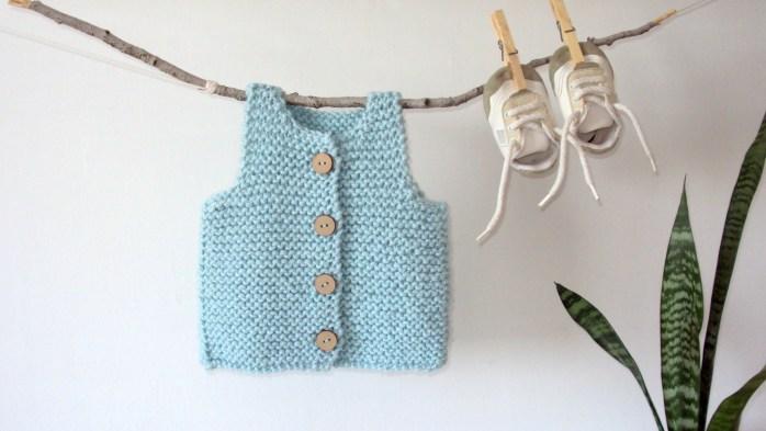 Easy Vest Free Knitting Pattern Newborn To 2 Years Oh La Lana