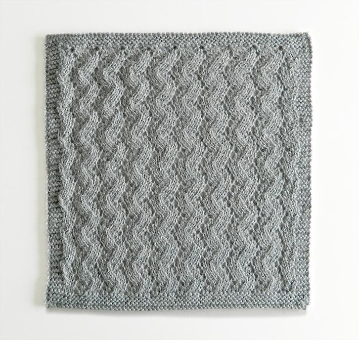 LACE N°7 pattern, lace dishcloth, lace knitting pattern, lace free pattern