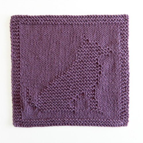 DOG cloth knitting pattern, DOG pattern, BEGINNER BLANKET MKAL 2020, DOG dishcloth pattern, DOG knitting pattern, OhLaLana dishcloth free pattern