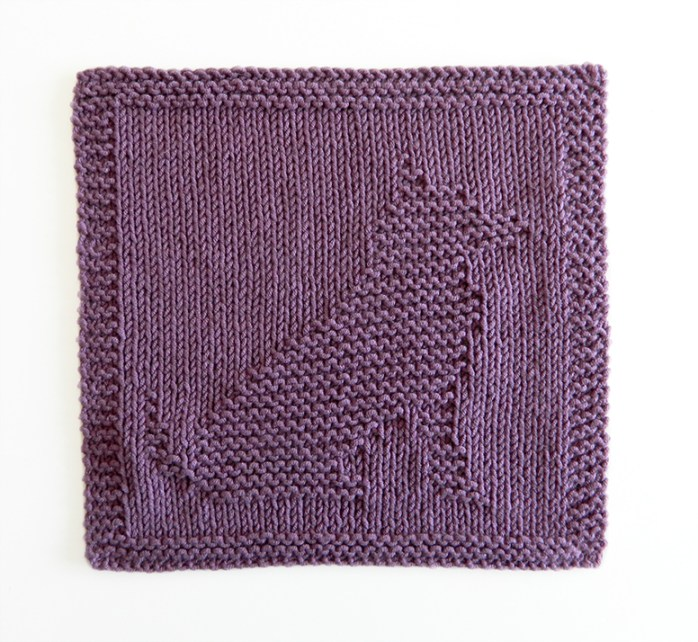 DOG cloth knitting pattern, DOG pattern, BEGINNER BLANKET MKAL 2020, DOG dishcloth pattern, DOG knitting pattern, OhLaLana dishcloth free pattern