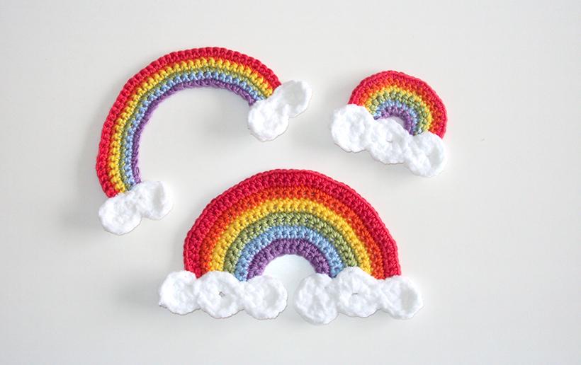 RAINBOW CROCHET PATTERN FREE, free crochet rainbow pattern, ohlalana