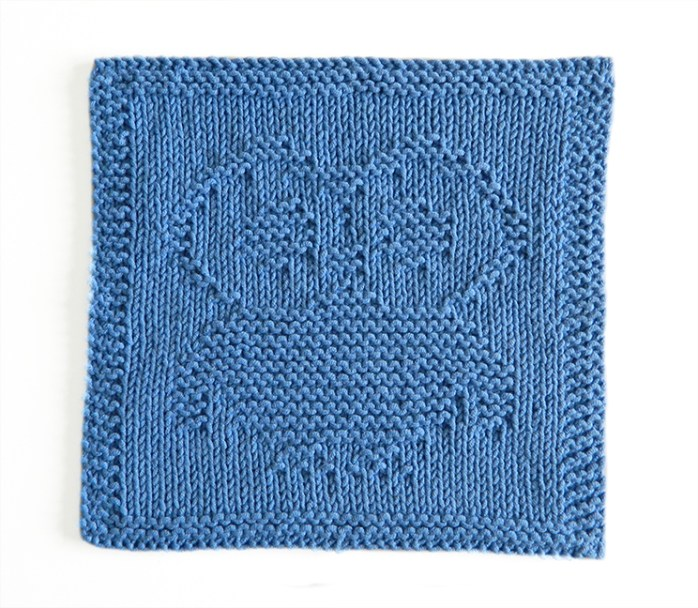OWL dishcloth, OWL pattern, BEGINNER BLANKET MKAL 2020, OWL dishcloth pattern, OWL knitting pattern, OhLaLana dishcloth free pattern
