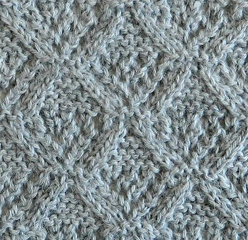 LACE N°8 pattern, lace dishcloth, lace knitting pattern, lace free pattern