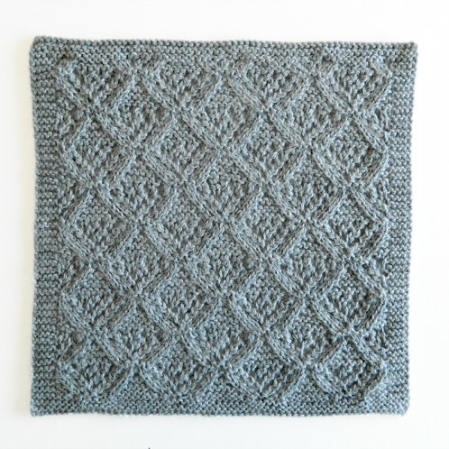 LACE N°8 pattern, lace dishcloth, lace knitting pattern, lace free pattern