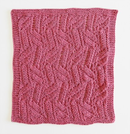 LACE N°12 pattern, lace dishcloth, lace knitting pattern, lace free pattern