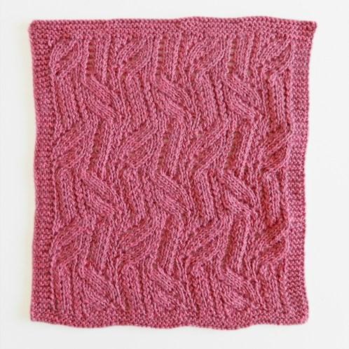 LACE N°12 pattern, lace dishcloth, lace knitting pattern, lace free pattern