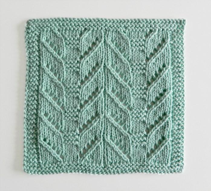 lace block pattern, lace dishcloth, lace knitting, lace knit dishcloth, lace square, ohlalana, lace 52 square pickup