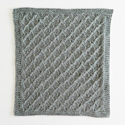 LACE N°14 pattern, lace dishcloth, lace knitting pattern, lace free pattern