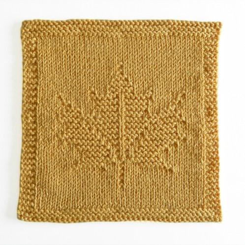 MAPLE LEAF dishcloth pattern, MAPLE LEAF pattern, BEGINNER BLANKET MKAL 2020, maple leaf knitting pattern, canada dishcloth, OhLaLana dishcloth free pattern