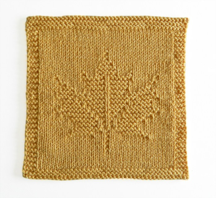 MAPLE LEAF dishcloth pattern, MAPLE LEAF pattern, BEGINNER BLANKET MKAL 2020, maple leaf knitting pattern, canada dishcloth, OhLaLana dishcloth free pattern