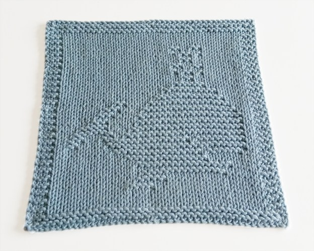 WHALE knitting pattern, WHALE dishcloth, WHALE pattern, BEGINNER BLANKET MKAL 2020, OhLaLana dishcloth free pattern