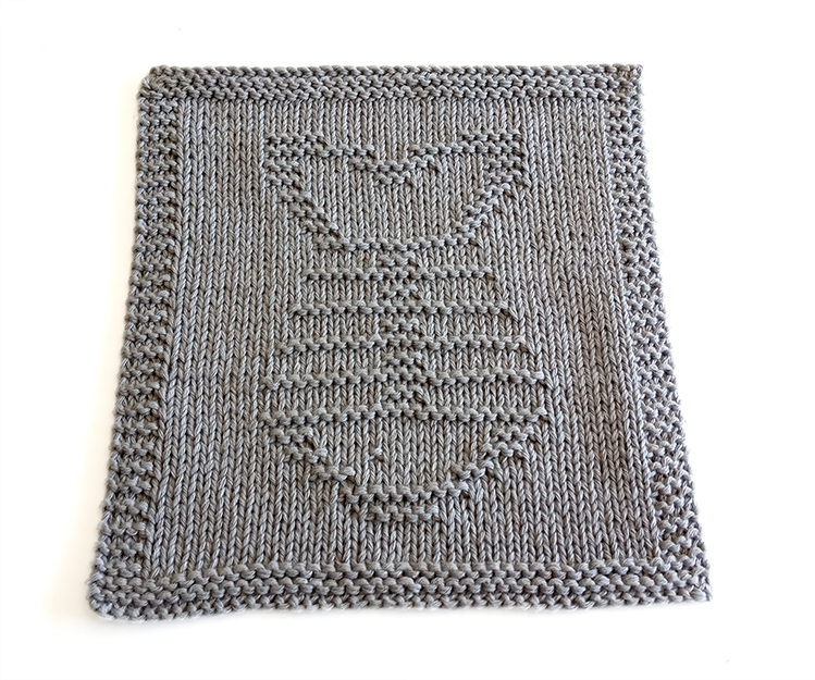 FISH BONES knitting pattern, fish pattern, FISH BONES dishcloth knitting pattern, OhLaLana dishcloth free pattern