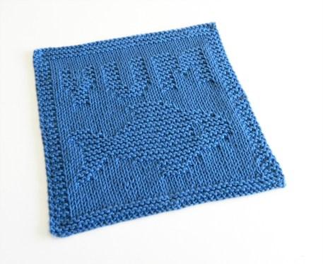 YUM FISH knitting pattern, fish pattern, YUM FISH dishcloth knitting pattern, OhLaLana dishcloth free pattern