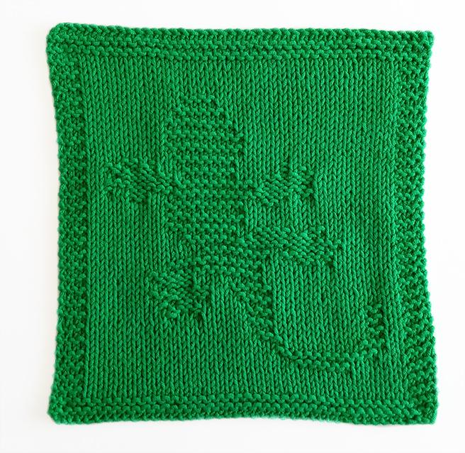 GECKO knitting pattern, GECKO dishcloth, GECKO pattern, BEGINNER BLANKET MKAL 2020, OhLaLana dishcloth free pattern