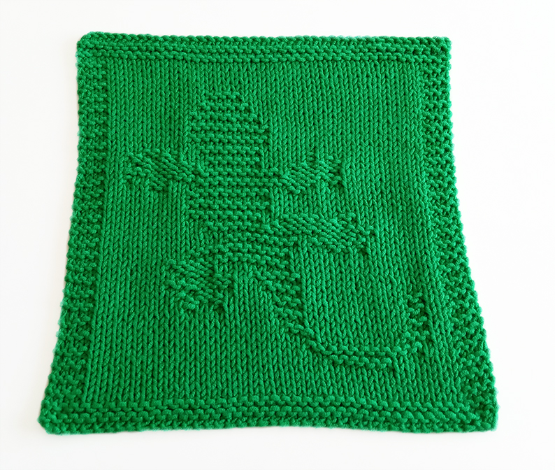 GECKO knitting pattern, GECKO dishcloth, GECKO pattern, BEGINNER BLANKET MKAL 2020, OhLaLana dishcloth free pattern