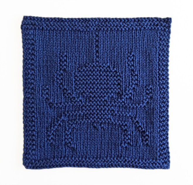 HALLOWEEN knitting SPIDER dishcloth, SPIDER knitting pattern, OhLaLana dishcloth free pattern