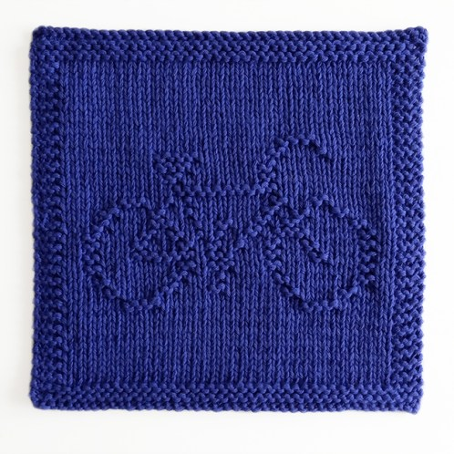 BICYCLE dishcloth, BICYCLE knitting pattern, BICYCLE pattern, transports dishcloth, BEGINNER BLANKET MKAL 2020, OhLaLana dishcloth free pattern