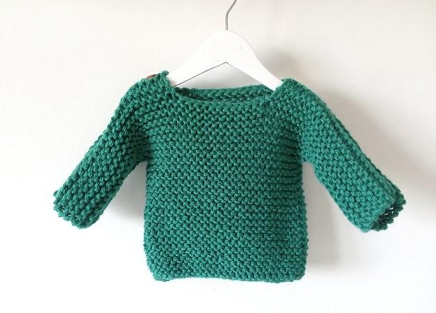 easy baby sweater knitting pattern, chalten sweater, chalten pullover, beginner baby sweater knitting pattern, baby pullover, ohlalana