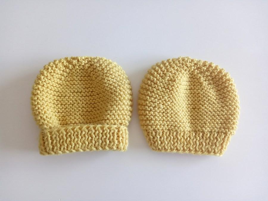 garter stitch hat knitting pattern, free baby hat pattern, baby hat, free hat knitting pattern ohlalana