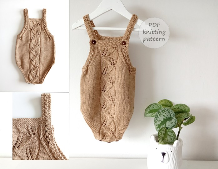 bosque baby romper knitting