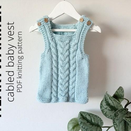 HEARTWARMER Baby Vest Knitting Pattern - Newborn to 2 years, ohlalana