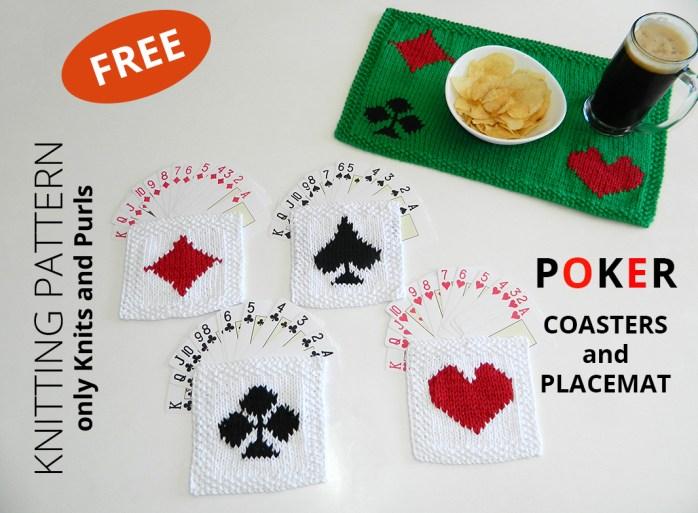 POKER KNITTING pattern, free poker pattern, ohlalana