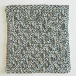 dishcloth free knitting pattern STAIRS 12 blocks Xmas