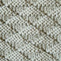 triangles stitch knitting pattern