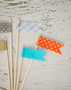 DIY Washi Tape Flags   Oh Lovely Day